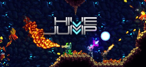 Hive Jump is a fast-paced multiplayer action platformer for up to four players. Players engage in run 'n' gun combat with swarms of aliens, all the while avoiding traps and collecting resources. (Photo: Business Wire)