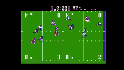 In TECMO BOWL, match your gridiron skills against the computer or another human player in this popular football game from the NES console. (Photo: Business Wire