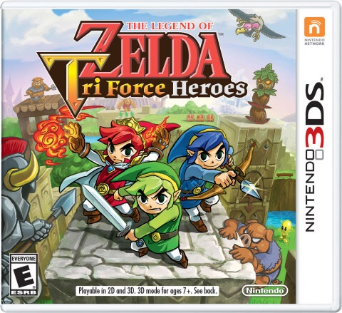 Form a legendary trio with your friends and tackle dungeons and boss battles together in The Legend of Zelda: Tri Force Heroes, coming to the Nintendo 3DS family of systems  on Oct. 23. (Photo: Business Wire)