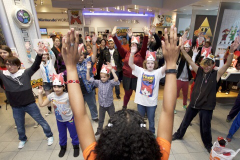For Photo #3In this photo provided by Nintendo of America, fans of all ages take part in the iconic Yo-kai Dance at the YO-KAI WATCH launch event celebration at Nintendo World on Nov. 7, 2015. YO-KAI WATCH launched on Nov. 6, 2015 and is available exclusively for the Nintendo 3DS family of systems.