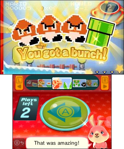 Grab all the Nintendo-themed badges you can in this fun-filled crane-machine game, then arrange them into a custom HOME Menu theme for your Nintendo 3DS system. (Photo: Business Wire)