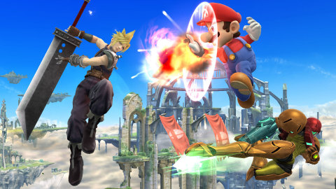 Cloud Strife, the legendary protagonist from the classic RPG game FINAL FANTASY VII, will enter the battlefield as a playable fighter in Super Smash Bros. for Wii U and Super Smash Bros. for Nintendo 3DS in the future. (Photo: Business Wire