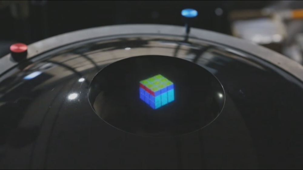 3D Rubik's cube hologram