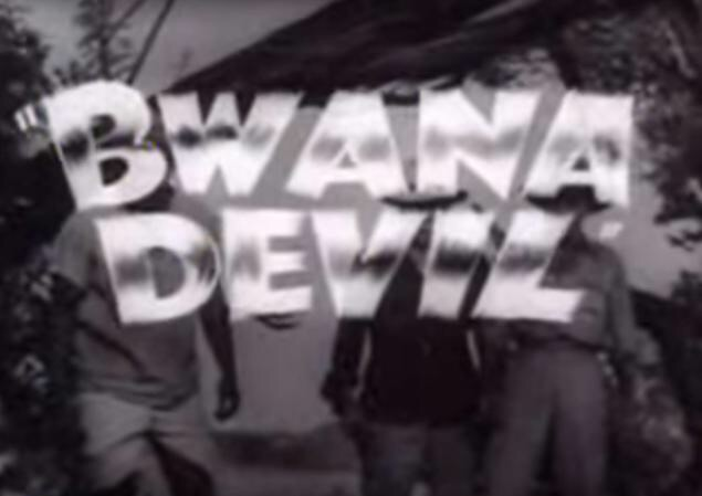 "Scene from the movie, ""Bwana Devil."""