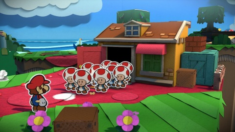 In Paper Mario: Color Splash, Prism Island is being drained of its color and it's up to Paper Mario to stop it! (Graphic: Business Wire)