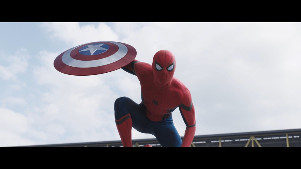 Spider-Man shown in Captain America Civil War