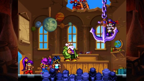Shantae: Risky's Revenge - Director's Cut brings hair-whipping, belly-dancing action to the Wii U console. (Graphic: Business Wire)