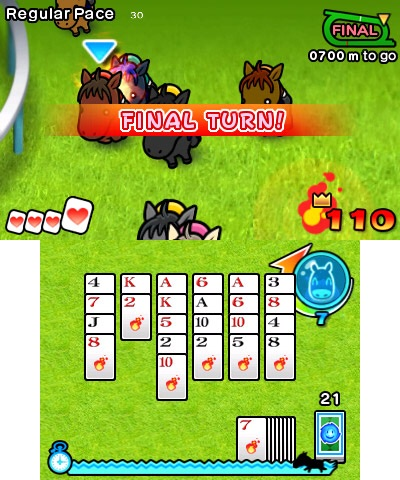In Pocket Card Jockey, you'll jockey your way to victory by clearing cards to energize your horse. (Graphic: Business Wire)