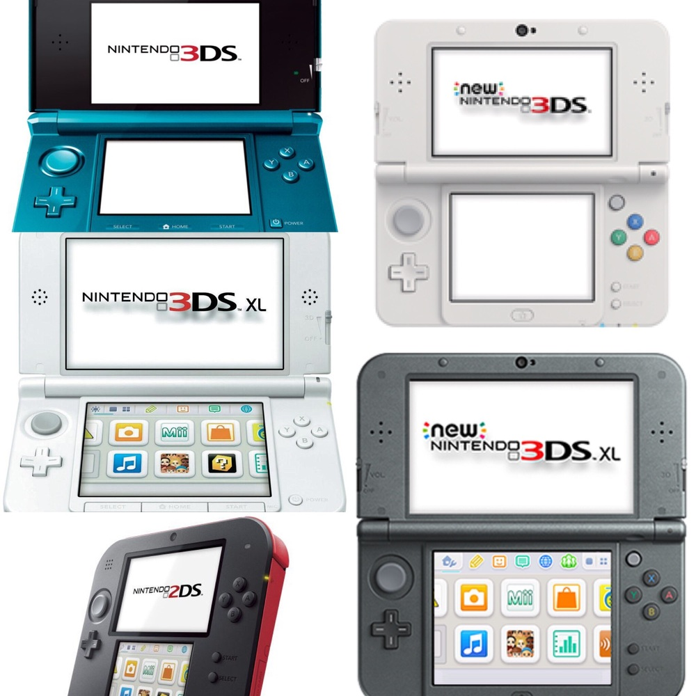 The 3DS Family of video game systems