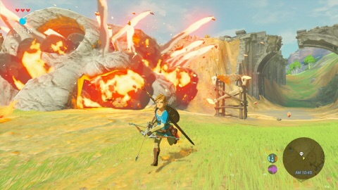 Nintendo showed that heroic Link needs to be resourceful. It's important for players to become familiar with their surroundings so they can find weapons or collect them from defeated enemies. (Graphic: Business Wire)