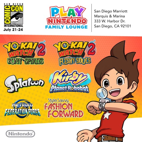 The Play Nintendo Family Lounge will be open to the public July 21-23from 10 a.m. to 7 p.m. and July 24 from 10 a.m. to 5 p.m.(Graphic: Business Wire)
