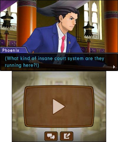 This free demo features a section from the game's first courtroom clash between Phoenix Wright and his new adversary, Royal Priestess Rayfa, in the foreign Kingdom of Khura'in. (Graphic: Business Wire)