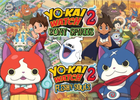 Now you can try out the new YO-KAI WATCH 2: Bony Spirits and YO-KAI WATCH 2: Fleshy Souls games before you buy. (Graphic: Business Wire)