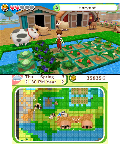 Exclusive to the Nintendo 3DS system, Harvest Moon: Skytree Village lets players revive the land and save a village. (Graphic: Business Wire)