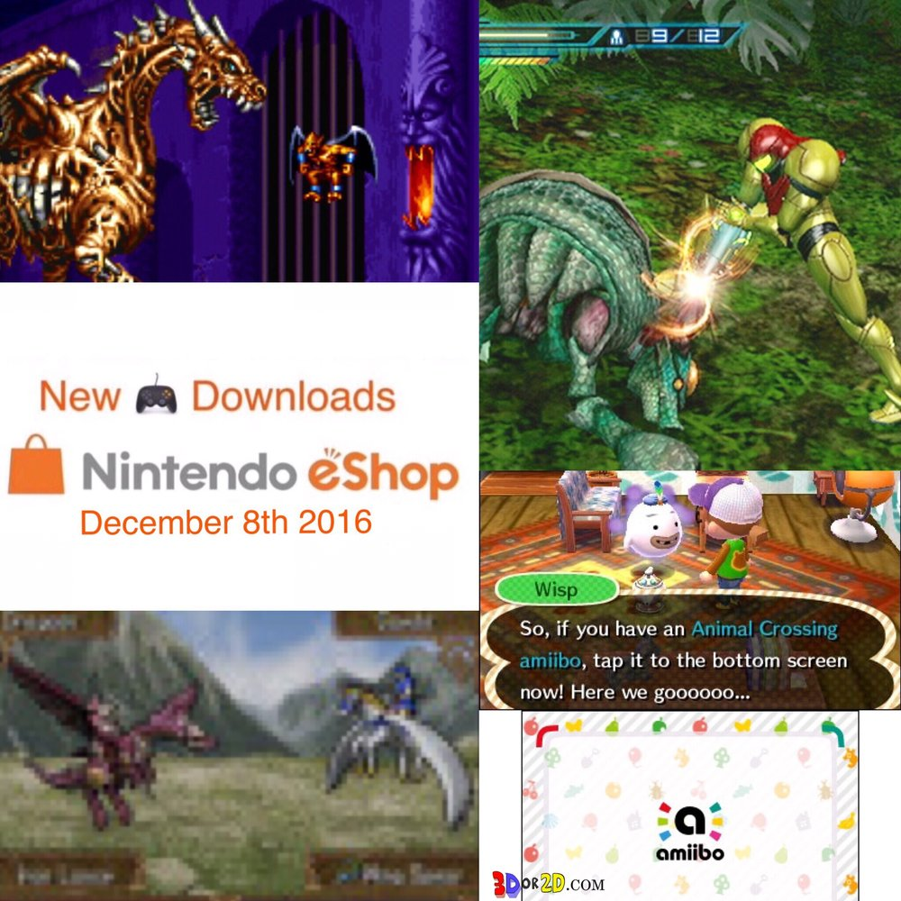 Metroids , Demons , Dragons and Animal Crossing New Leaf welcome Amiibo are highlights this week