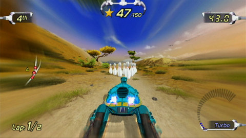 Trick Racing gets redefined! Pilot your Robotic insect or animal racer around the tracks at high speeds while performing stunts in this Wii game. (Photo: Business Wire)