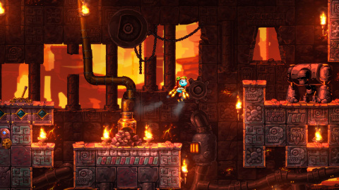 The SteamWorld Dig 2 game takes you on a platform mining adventure. (Photo: Business Wire)