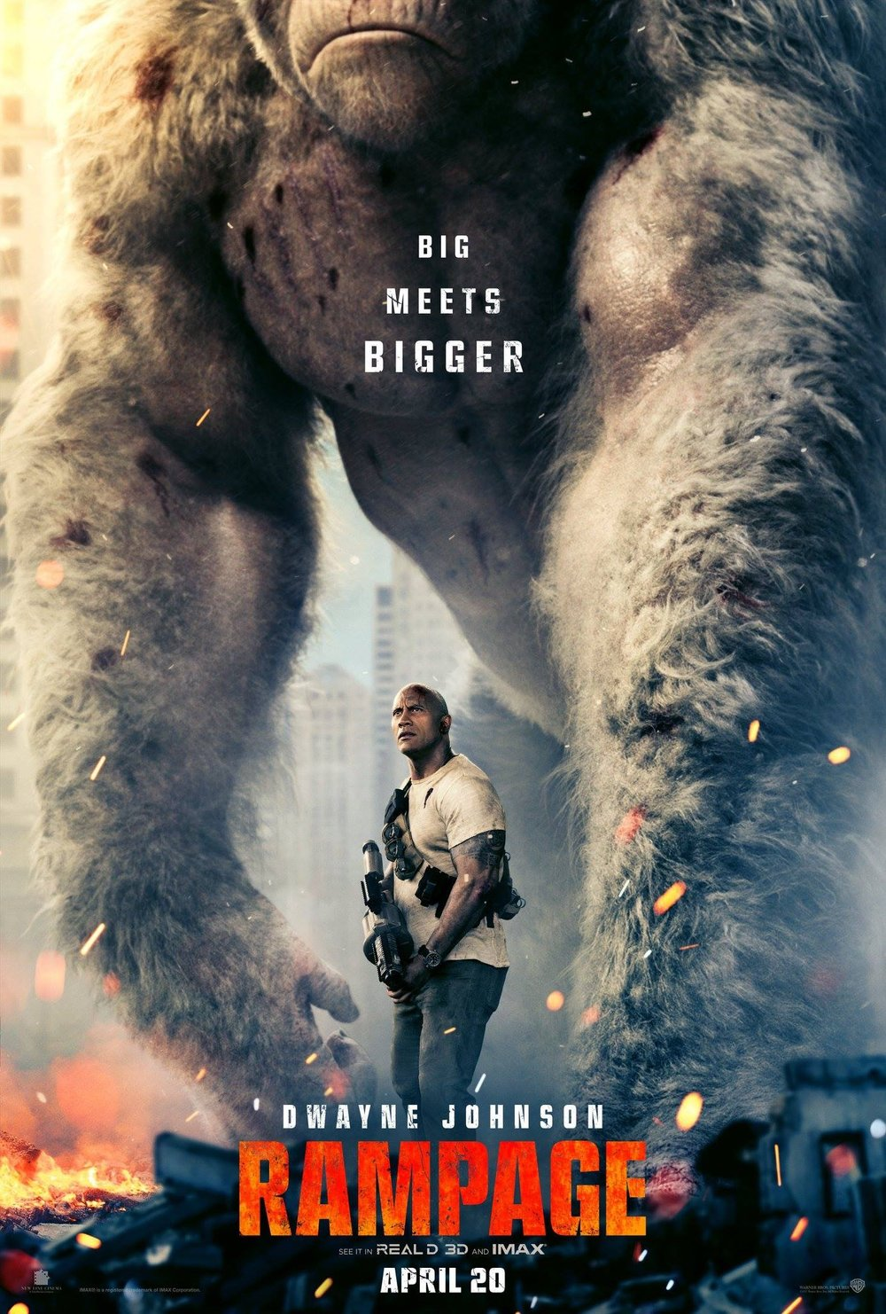 Official movie poster for Rampage