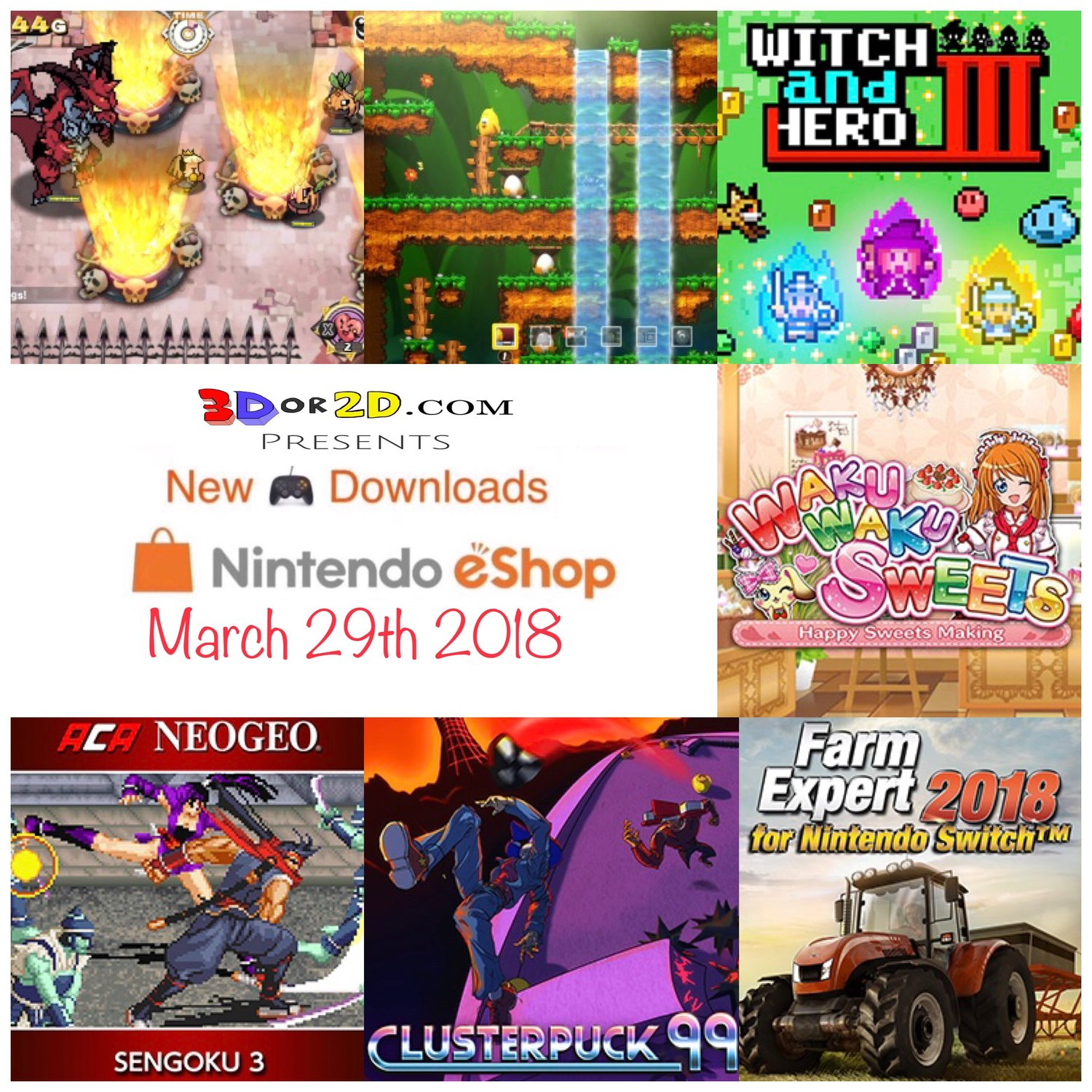Nintendo Eshop downloads for March 29th 2018 — 3Dor2D com