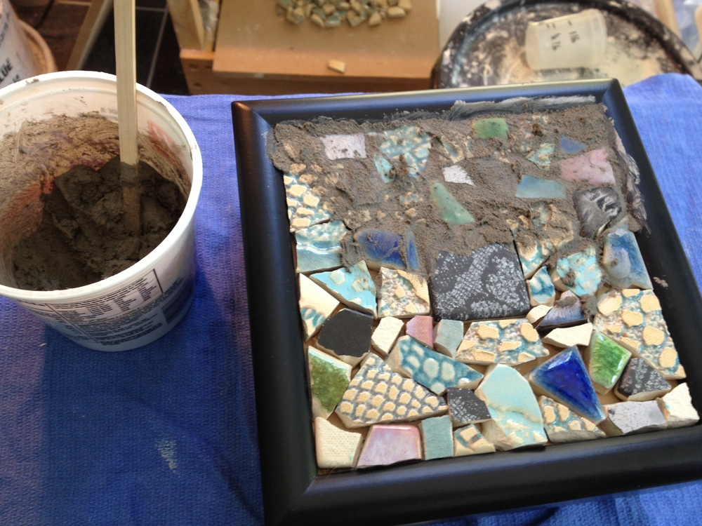 I just finished a new batch of tile mosaic jewelry boxes