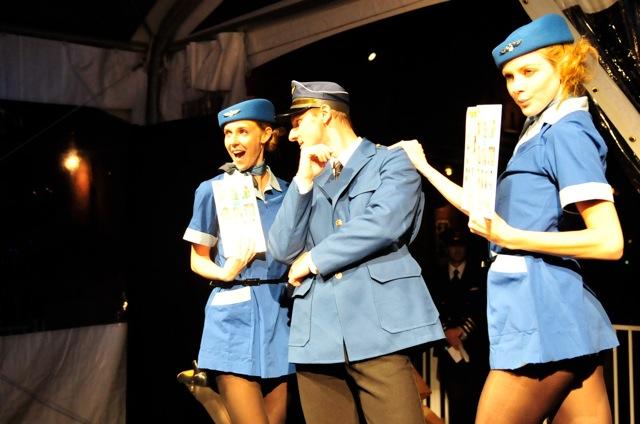 Pilot & Flight Attendants at The Distillery District