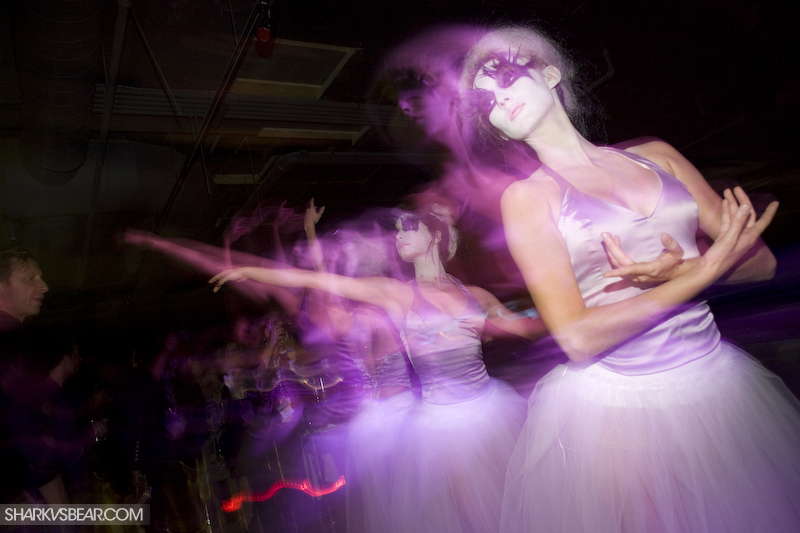 Ballerinas with a twist at a club event