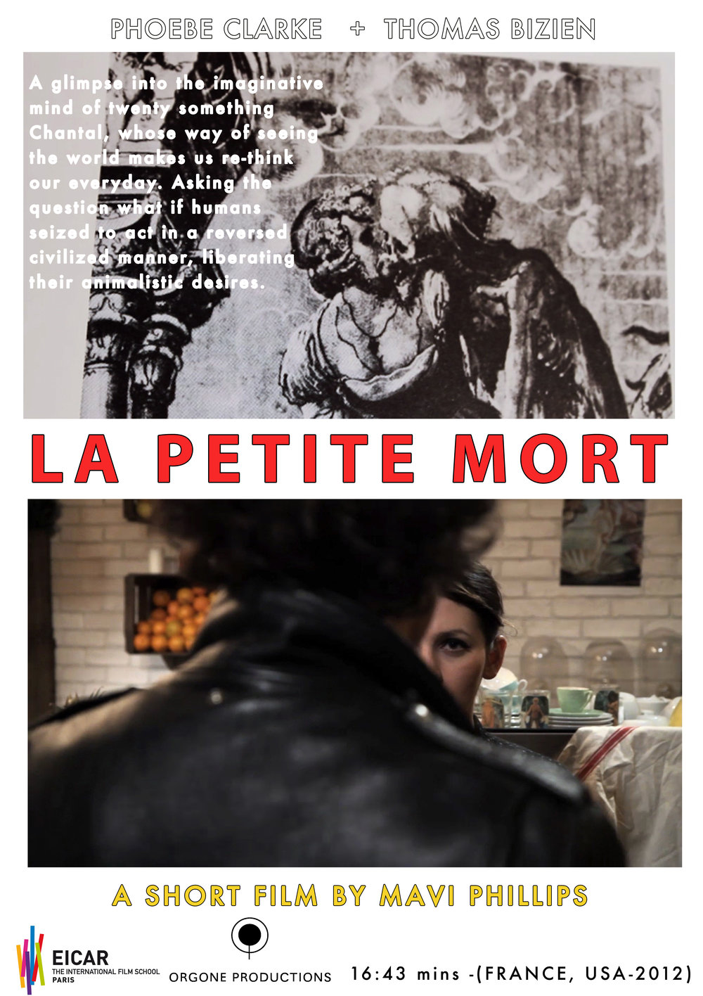 NARRATIVE FILM: A short film shot in Paris, France, 'La Petite Mort' is a glimpse into the imagiative mind of twentysomething woman, where our animal nature reins.