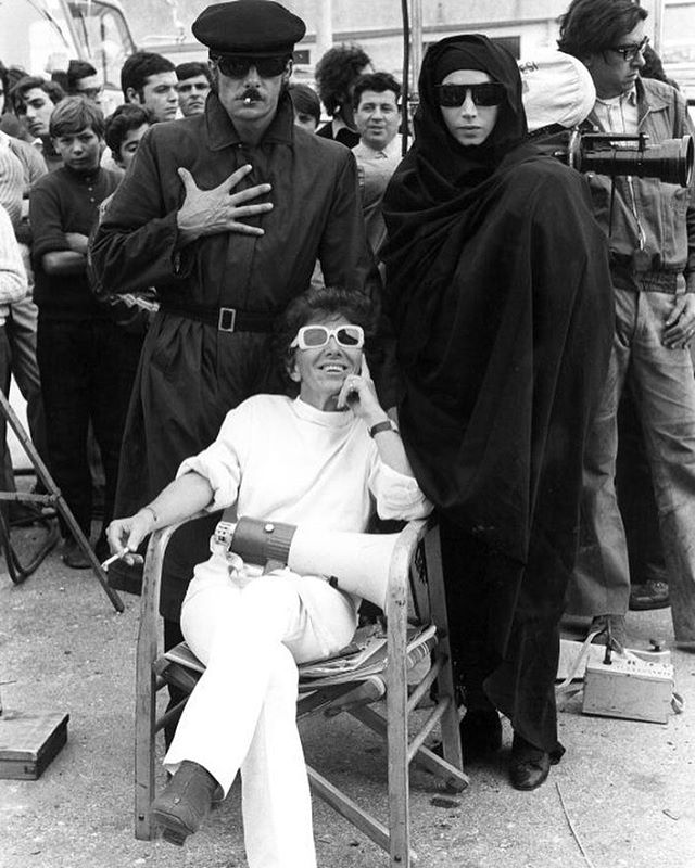 Here's Lina Wertmüller hard at work (and still in style) on 'The Seduction of Mimi.' I love Lina, do you know she was the first female director nominated for an Academy Award for directing 'Seven Beauties.' I only wish I had known about her work a lot of sooner. I highly suggest discovering her wonderful, stylish, sociopolitical worlds of her films. #femalefilmmakers #womendirectors #grlpwr #badass #herstory