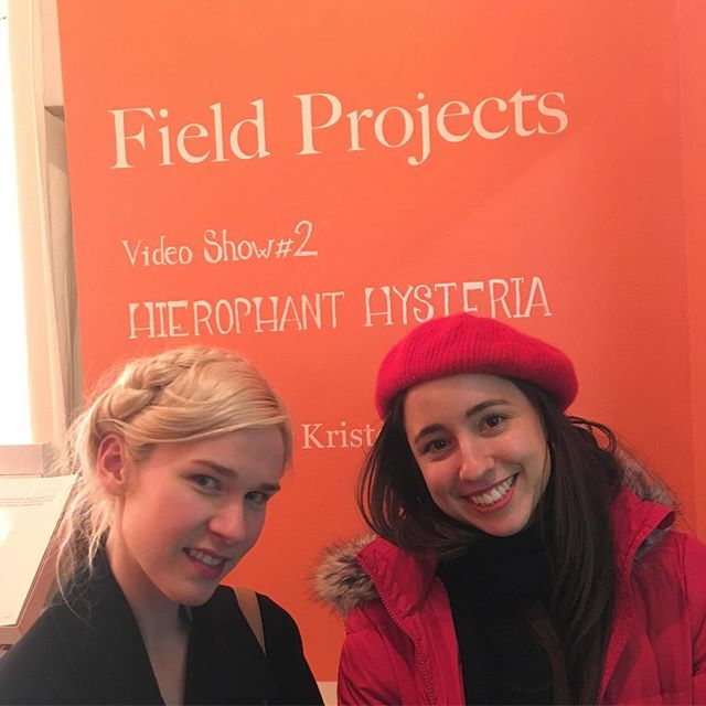 Thanks to the lovely Kris Racaniello @krisrac for including my film 'La Petite Mort' in yesterday's screening 'Hierophant Hysteria' at Field Projects Gallery @fieldprojects! So great to discover more fierce female filmmaker and artist in the great line-up. 📽💪🏼👩🏻‍🎨⚡️@miiccarthy @joiriminaya @rose.nestler @jennifermayreiland. Also thanks to @franklygalland for the photos and being my cheerleader ❤️.
