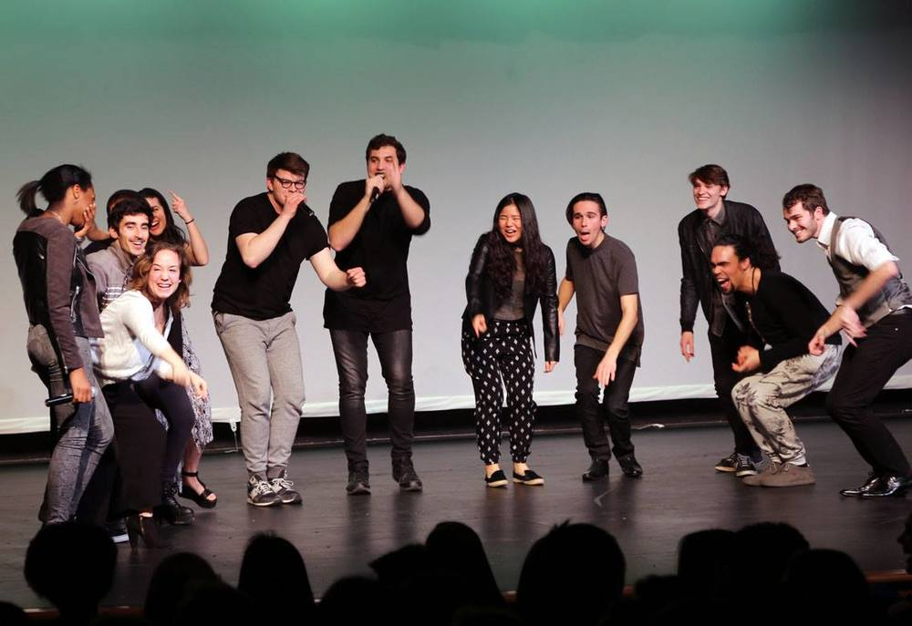 "Performing ""Thank You"" after we found out we won 1st place at Berkshire School's A Cappellapollooza!"
