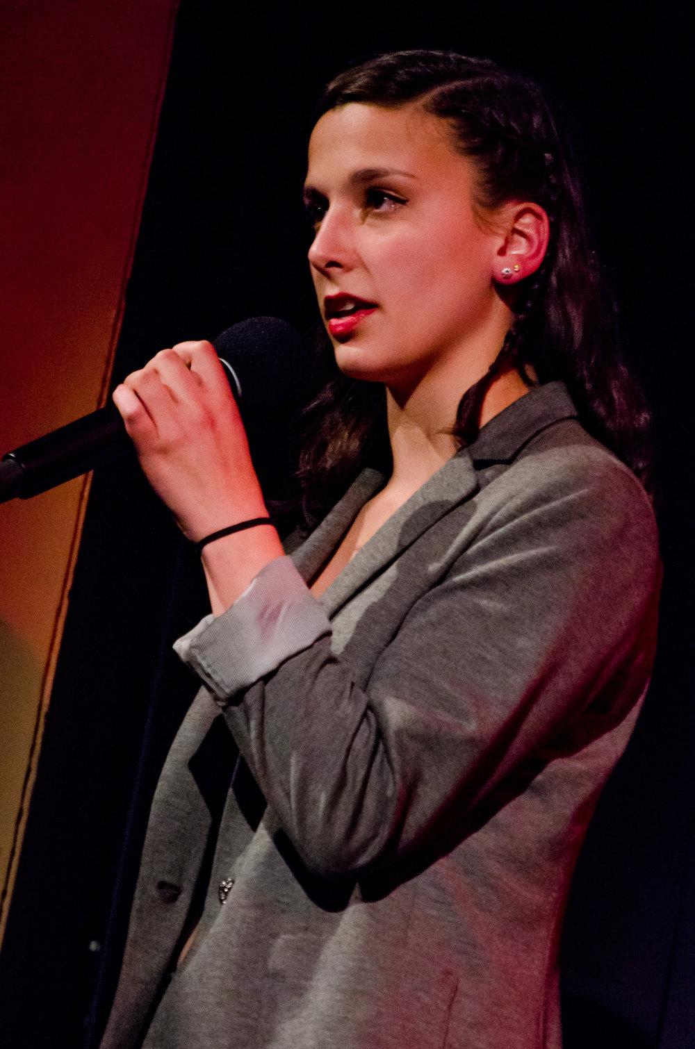 Michaela Coplen '18 won 'Best Spoken Word'   P.C. Angus W. Finlay (  http://www.anguswfinlay.com  )