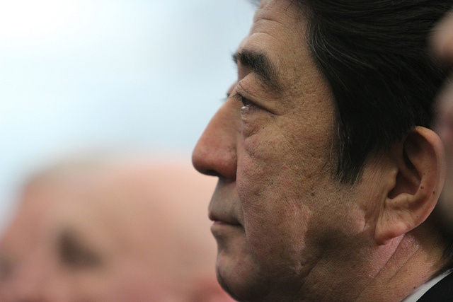 Japanese Prime Minister Shinzo Abe (Photo source: flickr/The Speaker - News)