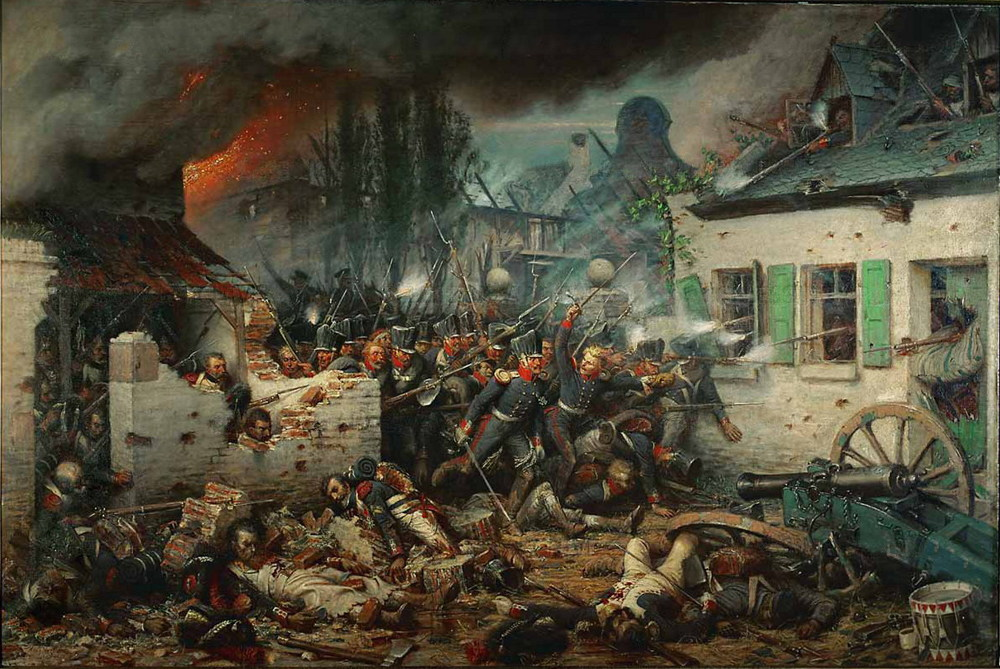 Attack on Plancenoit during Battle of Waterloo (Wikimedia Commons/Adolf Northern)
