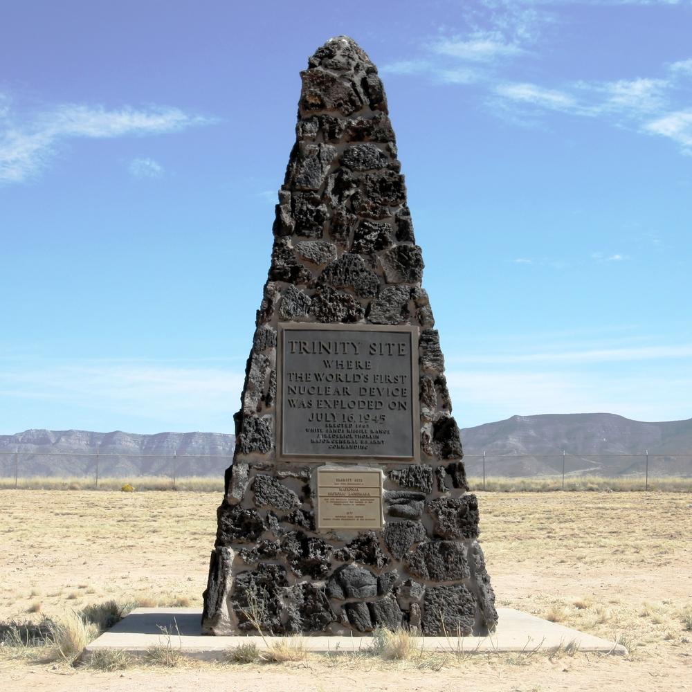 Obelisk at Ground Zero of the Trinity Test Site (Wikimedia Commons/Samat Jain)