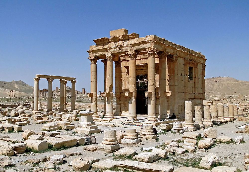 Temple of Baalshamin in Palmyra, Syria before its destruction. Image Source: Wikimedia Commons/Bernard Gagnon