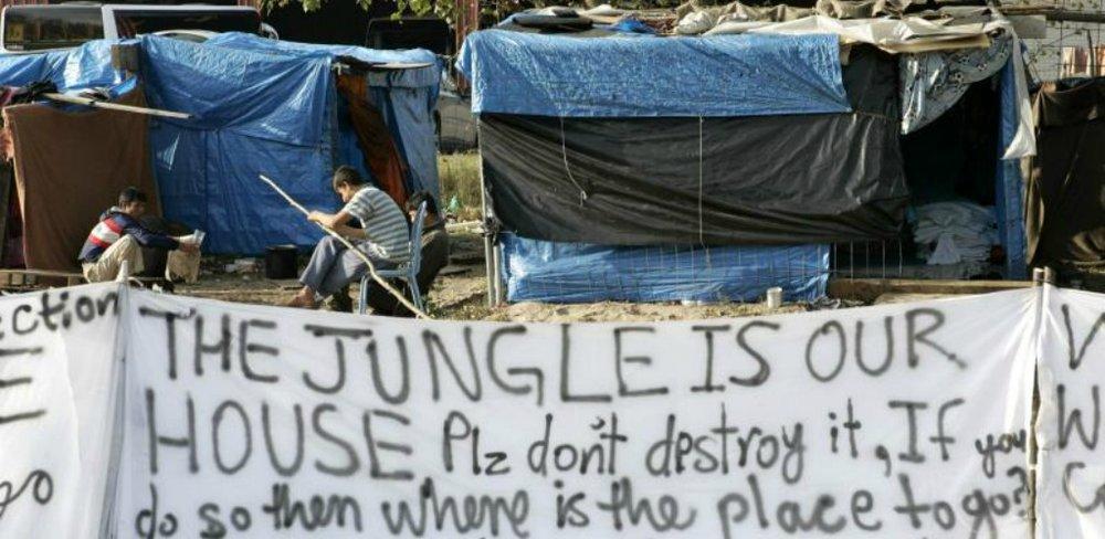 Calais Jungle. Credit: Wikimedia