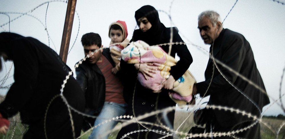 Syrian refugees. Credit: flickr/friedensnews
