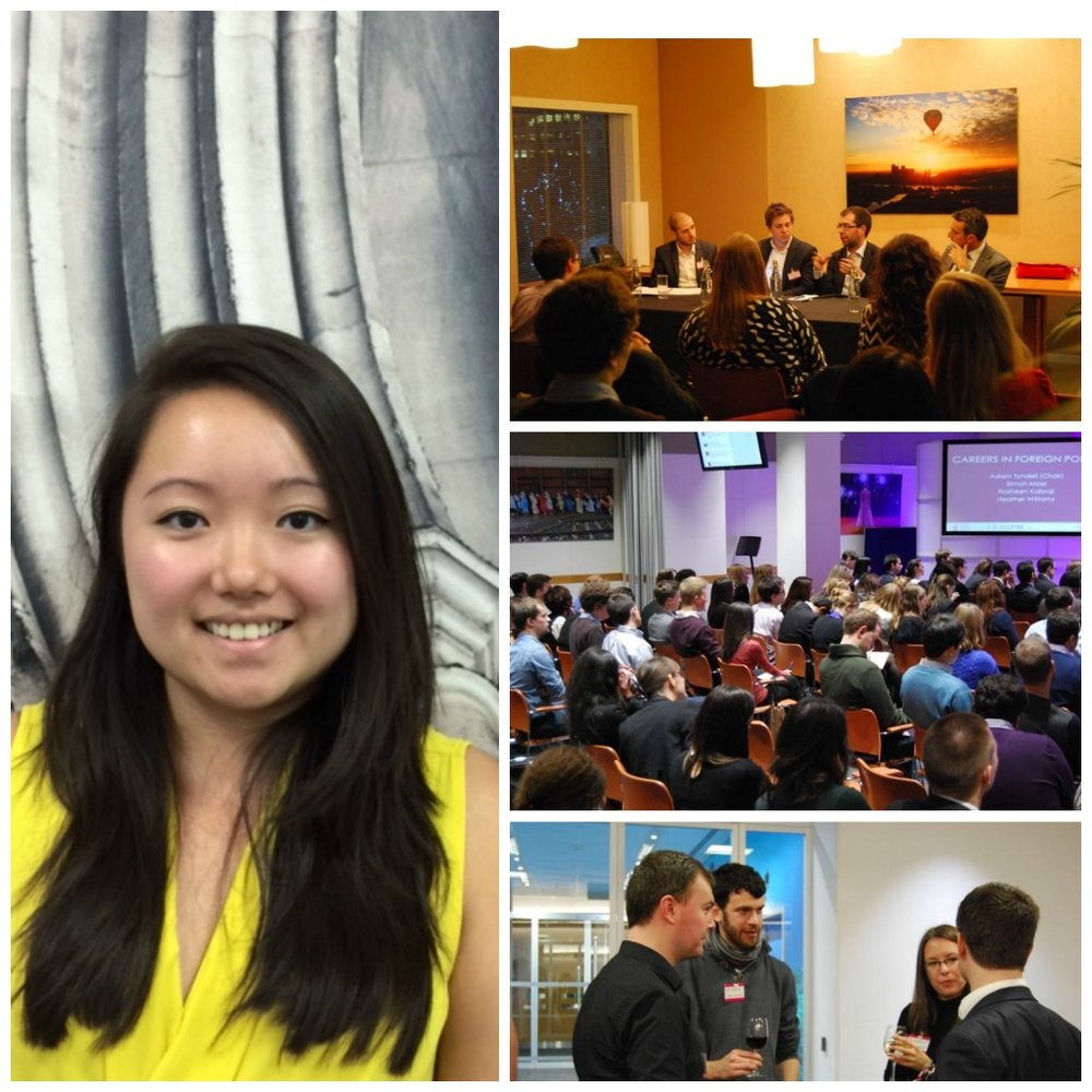 From left to right (clockwise): Katy Ho, Future Foreign Policy events