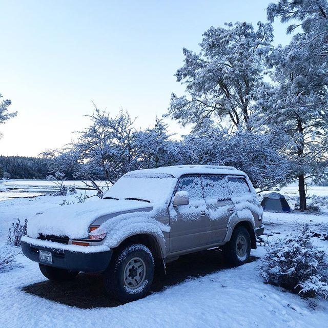 Winter wonderland #mendocinonationalforest #lakepillsbury #oakflatcampground
