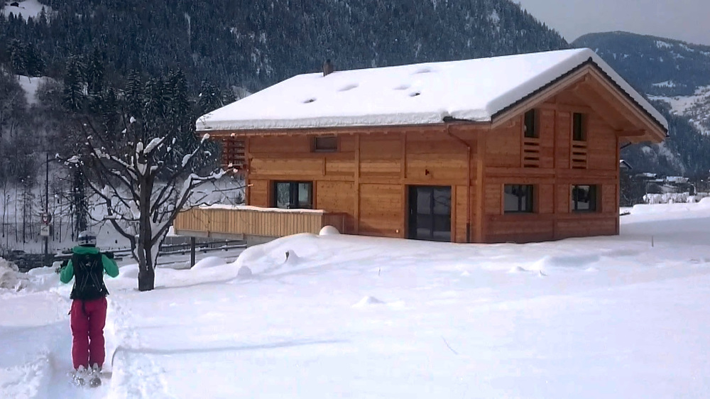 Vue sur le duplex où logent les visiteurs