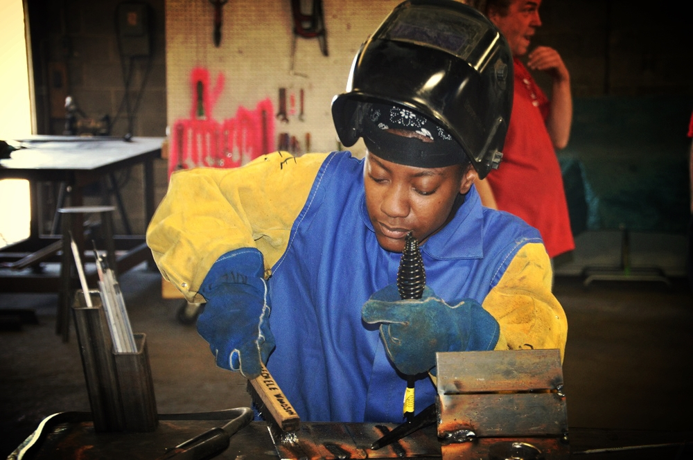 Female In Welding Training Program