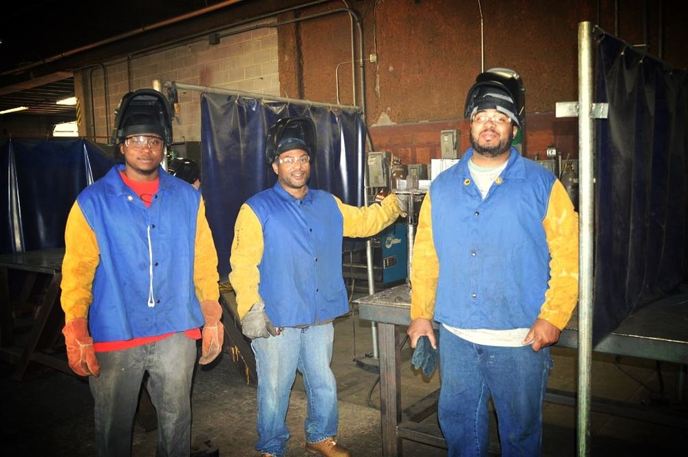 Guys In Welding School