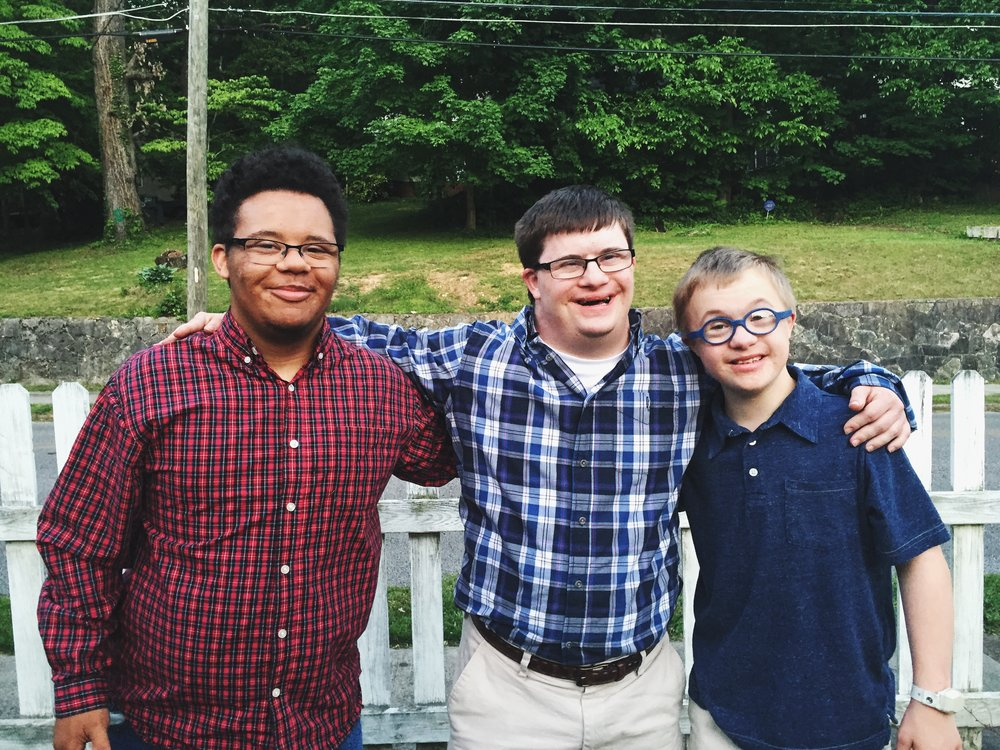 Isaiah, Will (Ruthie's brother), and Jack (my brother) at our graduation party in May.