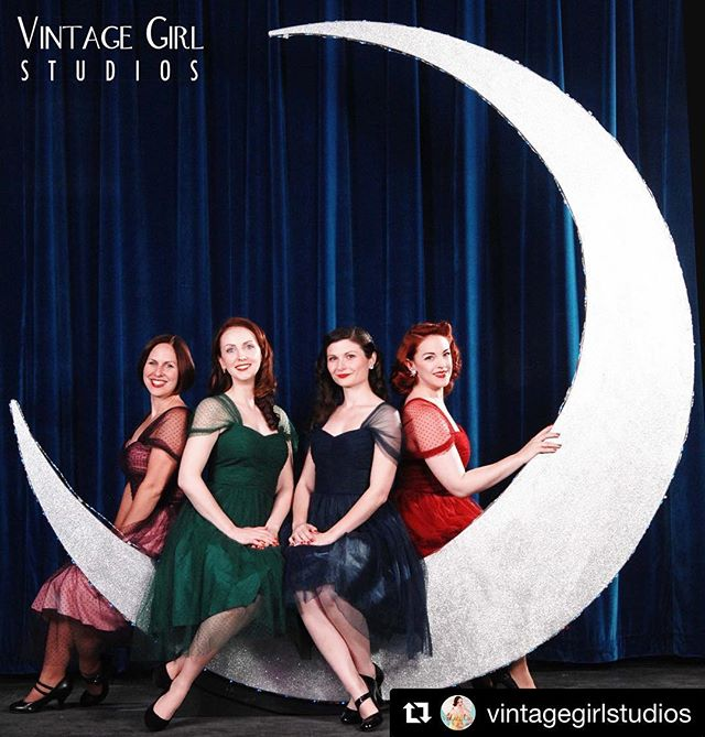 The Moon Maids! Musical director Dan Gabel will be traveling to Texas soon to meet the original #moonmaids from the 1946-1953 Vaughn Monroe Orchestra!! thanks for the great photos @vintagegirlstudios