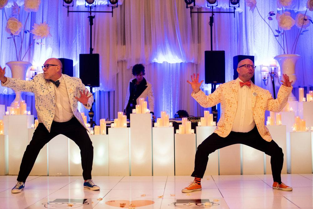 Orange Eclectic Union Club Wedding