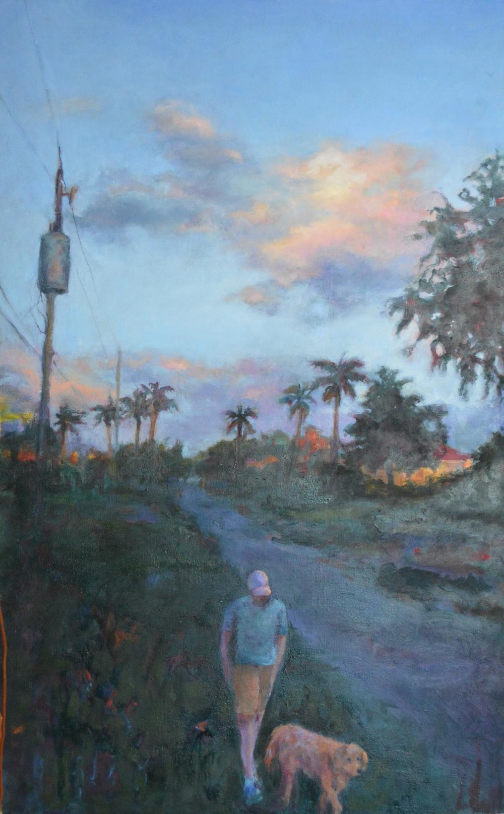 Evening Stroll, 30X40