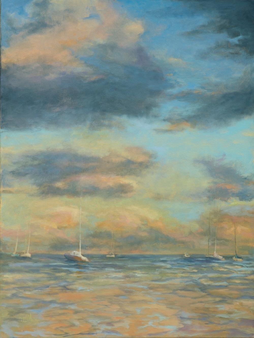 Safe harbor, oil on canvas, 30X40