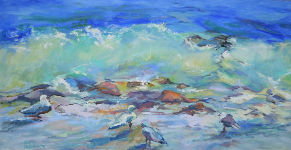 Birds' Eye View, oil 24X48, oil on canvas