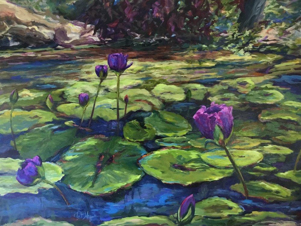 Unfolding, acrylic on canvas, 36x48