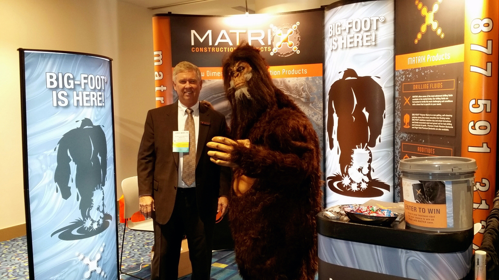 The first confirmed BIG-FOOT® sighting at foundation construction conference. No injuries were reported.